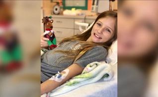 """Roxli Doss tem 11 anos e havia sido diagnosticada com um tumor raro, considerado """"incurável"""". (Foto: ABC30.com)"""