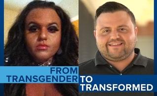 """Jeffrey McCall viveu durante anos como """"Scarlett"""" (esquerda) e hoje testemunha sua transformação de vida. (Foto: CBN News)"""