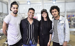 Be One Music no stand do Portal Guiame durante a ExpoEvangélica 2019. (Foto: Irion Oliveira/Guiame)