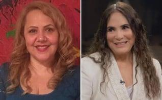 Jane Silva e Regina Duarte: convite aceito. (Foto: Reprodução/Globo/SDC)