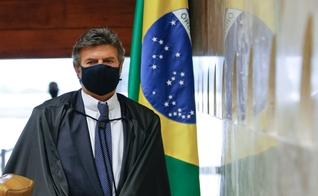 Presidente do STF, ministro Luiz Fux em sessão realizada por videoconferência. (Foto: Fellipe Sampaio / SCO/STF)
