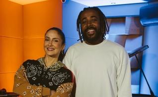 """Claudia Leitte e Clovis nos bastidores da gravação de """"Aprendiz"""". (Foto: Caio Giménez)"""
