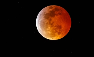"Fenômeno ""lua de sangue"". (Foto: Rich Polk/Getty Images)"
