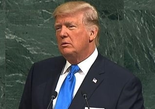 Donald Trump fez seu primeiro discurso na Assembléia Geral das Nações Unidas. (Foto: CBN News)