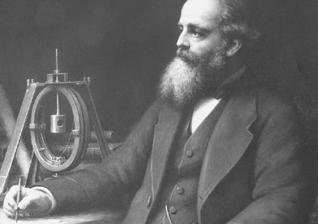 Retrato de James Clerk Maxwell com o aparelho de bobina giratória que ele e Fleeming Jenkin usaram em 1863-64 para determinar o valor do ohm. (Foto: Reprodução / Research Gate)