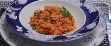 Frutos do mar: Arroz com camarão