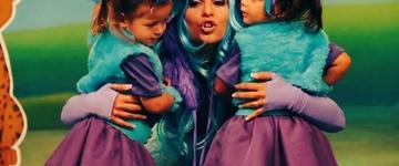 Em novo DVD infantil, Aline Barros grava canções ao lado da filha Maria Catherine