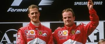 """""""Dos sete títulos de Schumacher, um deveria ser meu"""", afirma Barrichello"""