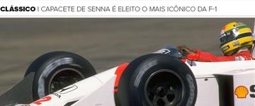 Revista inglesa escolhe capacete de Senna como mais icônico da Fórmula 1