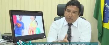 """Magno Malta critica a erotização infantil: """"Temos uma legislação que criminaliza este procedimento"""""""