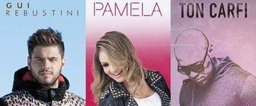 Ton Carfi, Gui Rebustini e Pâmela realizarão Pocket Show nesta quinta-feira (28), em SP