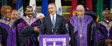 Obama se emociona e canta hino cristão durante funeral do pastor de Charleston (EUA); assista
