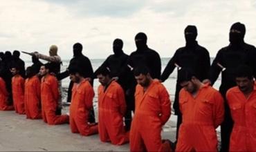 Imagem da execução dos 21 cristãos coptas