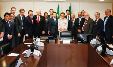 Dilma se reuniu com alguns pastores e outros representantes da bancada evangélica. (Foto: Roberto Stuckert Filho/PR)