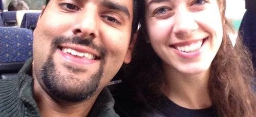 Michelle ao lado de seu marido, o falecido Nabeel Qureshi. (Foto: Reprodução/Facebook)