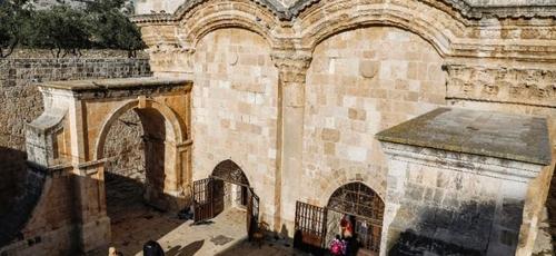 Tribunal israelense ordenou o fechamento temporário da Porta Dourada no Monte do Templo. (Foto: AFP/Ahmad Gharabli)