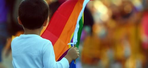 Criança participa de parada gay nos EUA. (Foto: Getty Images)