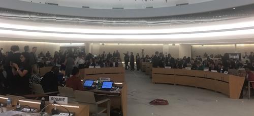 No Conselho de Direitos Humanos da ONU, em Genebra, o governo brasileiro abandonou tradicional apoio aos palestinos. (Foto: Jamil Chade)