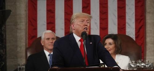 Trump proferiu seu discurso sobre o Estado da União deste ano de 2020 na última terça-feira. (Foto: Foto: Leah Millis/Pool/Reuters)