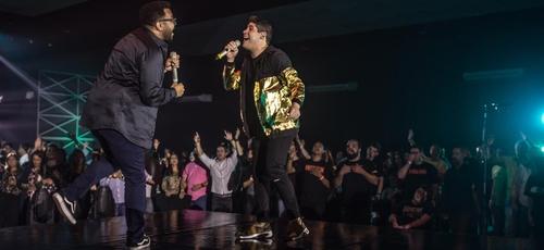 """Marcos Freire e Eli Soares cantam juntos em """"Não Vou Duvidar"""". (Foto: Divulgação)"""