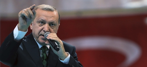 O presidente da Turquia, Recep Erdogan, se posicionou contra os aliados de Israel. (Foto: Murat Cetinmuhurdar/Pool Photo via AP)