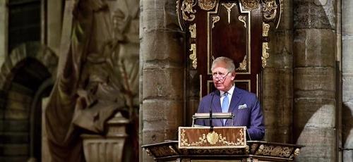 O Príncipe de Gales fez um pedido pelo fim da intolerância religiosa em um culto na Abadia de Westminster. (Foto: Dominic Lipinski/PA)