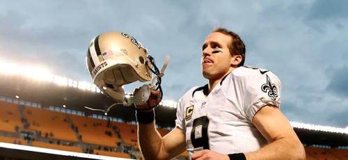 O jogador de futebol americano, Drew Brees, é quarterback do New Orleans Saints. (Foto: Getty Images)