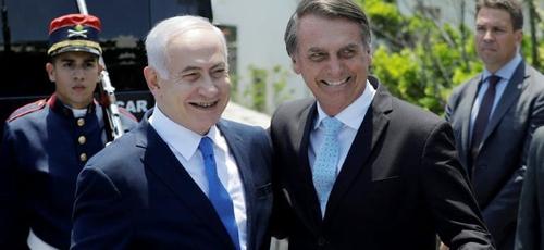 Jair Bolsonaro recebe Benjamim Netanyahu no Brasil. (Foto: Reprodução/Twitter)