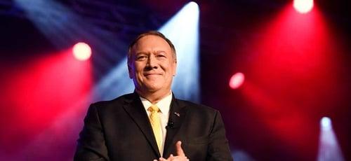 Mike Pompeo, secretário de Estado dos EUA, na Conferência Mundial da Associação Americana de Conselheiros Cristãos. (Foto: George Walker IV/The Tennessean)