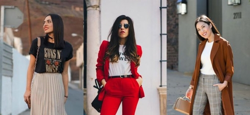 A camiseta pode ser peça-chave para looks despojados, mas sem perder a elegância. (Foto: Reprodução/Pinterest)