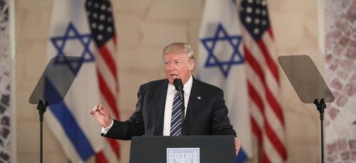 Donald Trump em discurso no Museu de Israel em Jerusalém. (Foto: Yonatan Sindel/Flash90)
