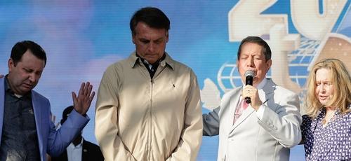 Presidente da República Jair Bolsonaro participa da Cerimônia de Celebração de 40 anos da Igreja Internacional da Graça de Deus. (Foto: Carolina Antunes/PR)