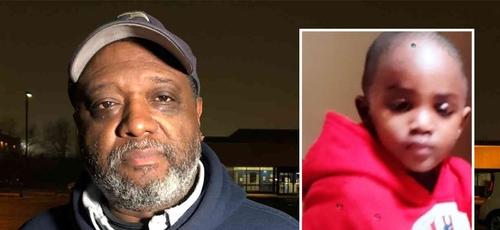 Keith Rollins e Ethan Adeyemi, de 2 anos, que estava desaparecido. (Foto: Reprodução/God TV)
