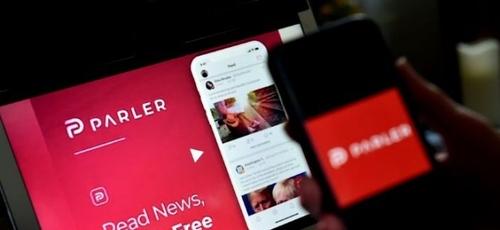 Parler, que foi lançado em 2018, opera de maneira muito semelhante ao Twitter. (Foto: Reprodução / Yahoo)