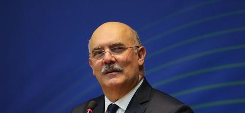 O ministro da Educação, Milton Ribeiro, durante a cerimônia no Ministério das Comunicações. (Foto: Fabio Rodrigues Pozzebom/Agência Brasil)