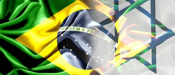Bandeiras do Brasil (esquerda) e Israel (direita). (Imagem: Getty)