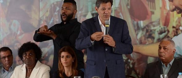 Fernando Haddad (PT) participou de um evento com pastores na última segunda-feira (18). (Foto: Agência Brasil)