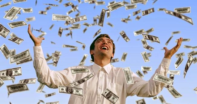 Chuva de dinheiro. (Foto: Getty)