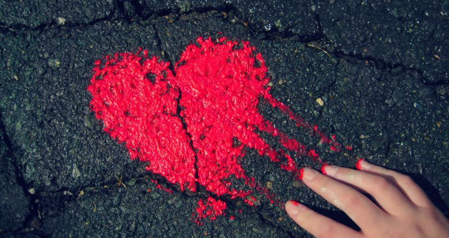 Coração no asfalto. (Foto: wilsongoncalvessite)