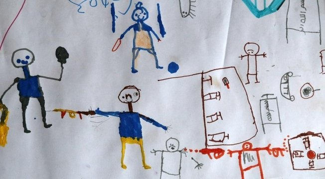 Desenho de uma criança nigeriana