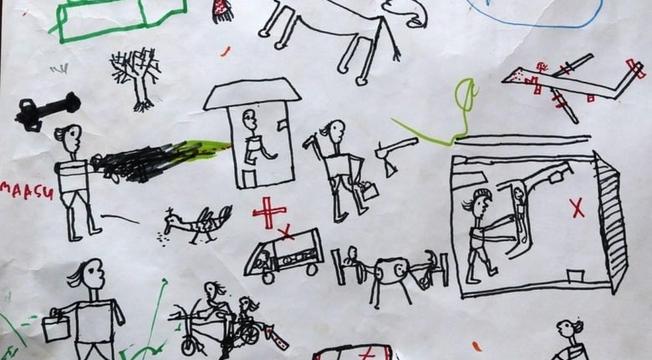 Desenhos de crianças nigerianas 6