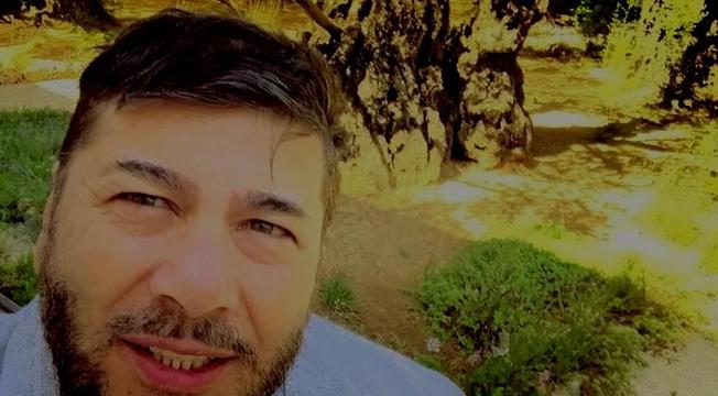 Joel Engel no Jardim do Getsêmani