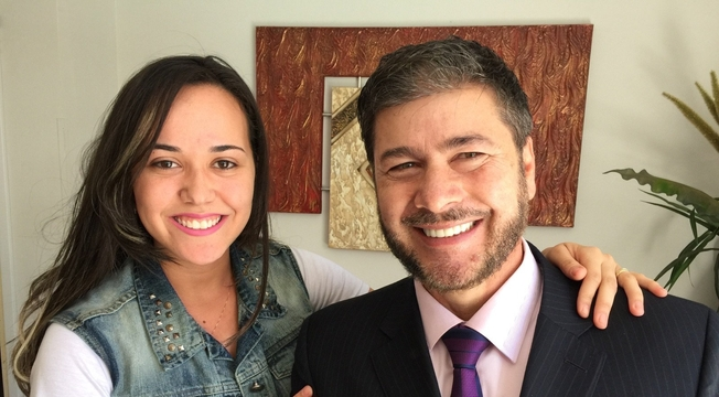 Pastora Bianca de Oliveira e pastor Joel Engel