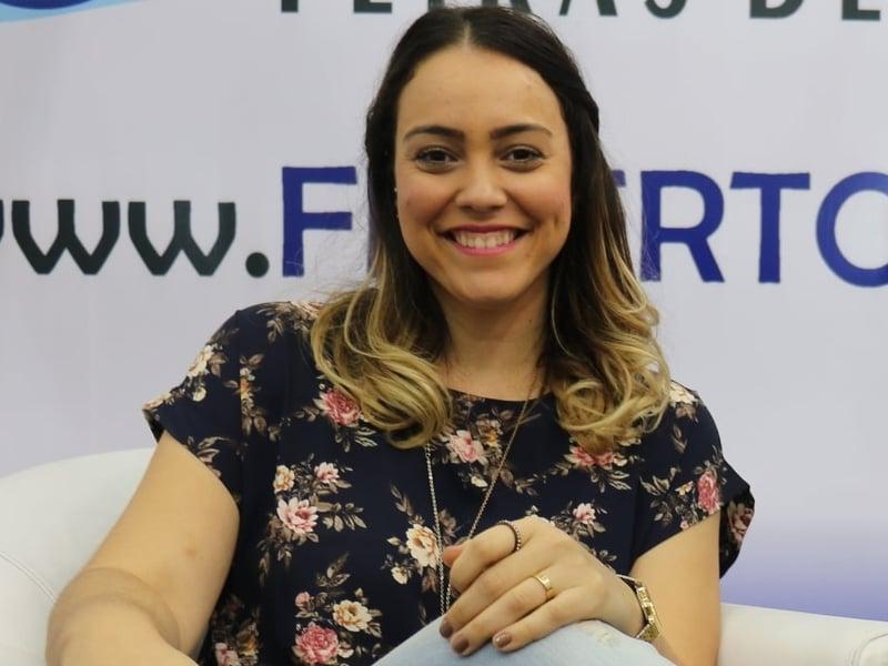 Amanda ministrou durante a Expoevangélica 2017, em Fortaleza. (Foto: Guiame/Marcos Paulo Corrêa).