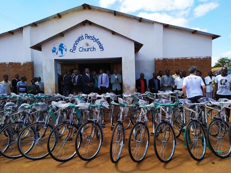 Cerca de 35 bicicletas foram doadas para pastores de Malawi e Moçambique. (Foto: Guiame/Marcos Corrêa)
