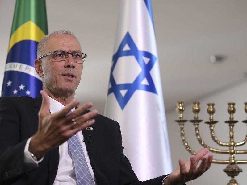 O embaixador de Israel, Yossi Shelley, celebra a proximidade entre Brasil e Israel. (Foto: Marcello Casal Jr/Agência Brasil)