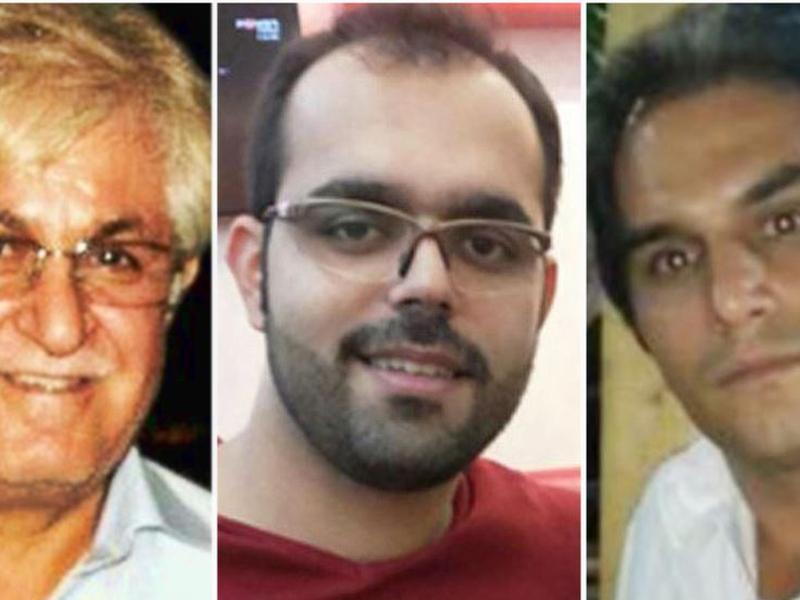 Pastor Victor Bet Tamraz, Amin Afshar Naderi e Hadi Asgari, três cristãos condenados a 10 a 15 anos de prisão em julho de 2017. (Foto: Reprodução/Radio Farda)