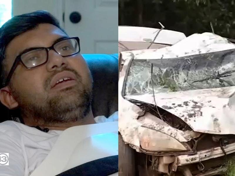José Velázquez sobreviveu cinco dias na mata depois de bater seu carro. (Foto: ABC13)
