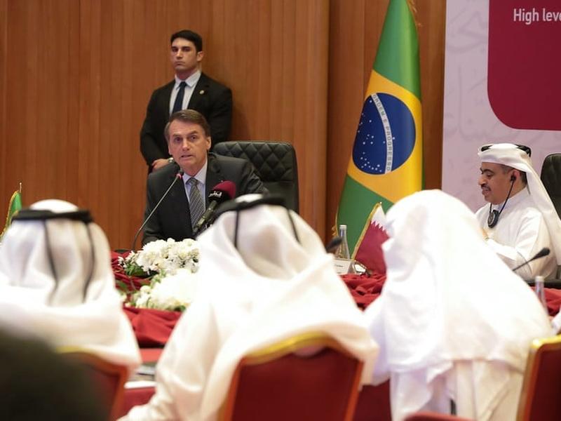 Bolsonaro esteve no Catar durante viagem a países do Oriente Médio. (Foto: Valdenio Vieira/PR