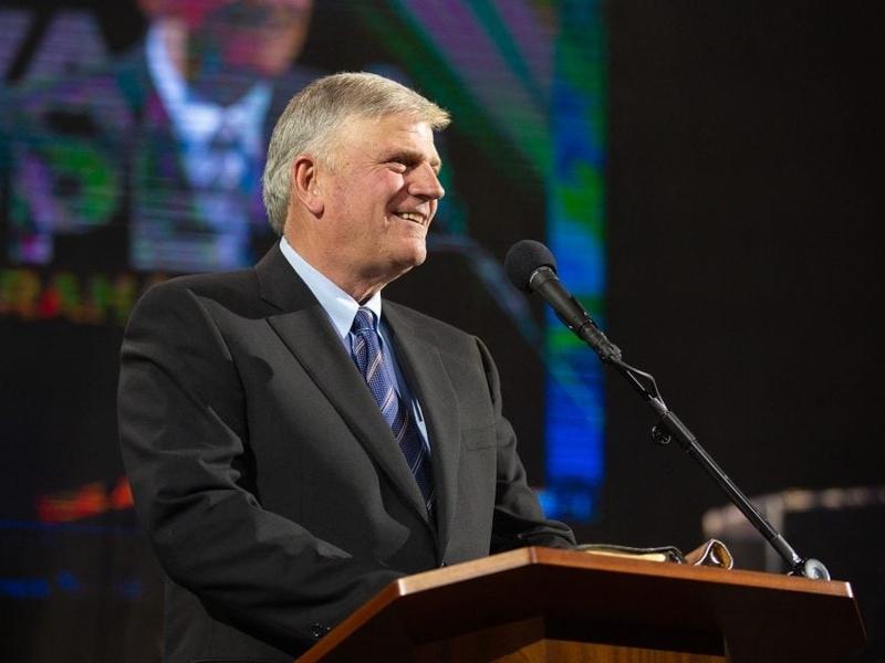 Franklin Graham promoveu o Festival da Esperança de Lancashire na Inglaterra, em 2018. (Foto: Associação Evangelística Billy Graham)